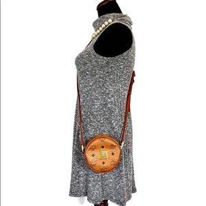 MCM Brown Mini Tambourine Crossbody Bag